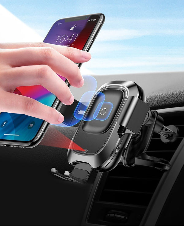 Bestsellrz® Qi Magnetic Clip On Phone Holder Wireless Charger - QiMate™ Car Chargers QiMate™