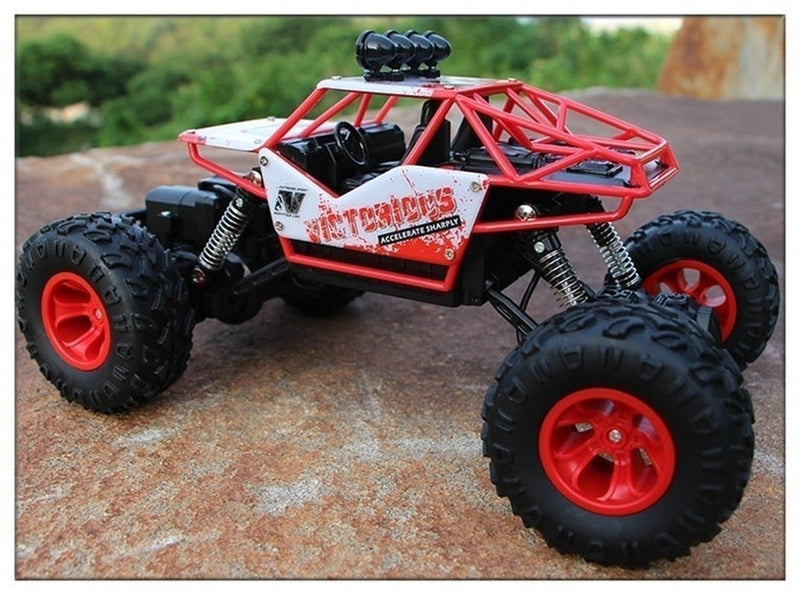 Bestsellrz® Remote Control Race Car RC Rock Crawler Electric Truck - Turboxo™ Remote Control Monster Trucks Red - 27 cm Turboxo™