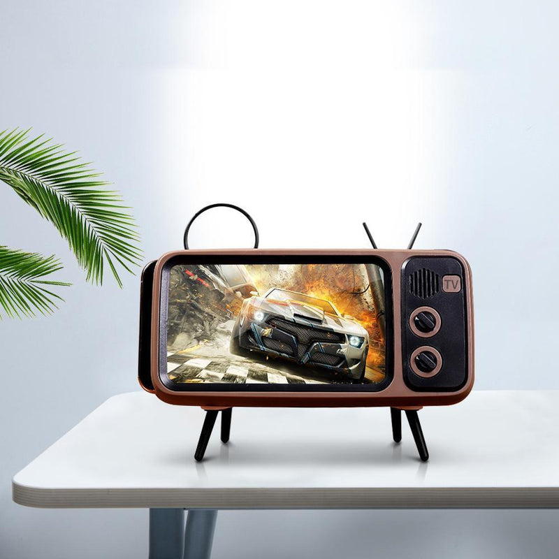 Bestsellrz® Retro Speaker Phone Holder Portable Bluetooth TV Dock- Phonitix™ Home Phonitix™