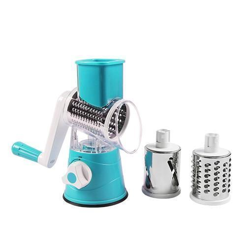 Bestsellrz® Rotary Vegetable Slicer Carrot Spiralizer Salad Cutter - Swizie™ Graters Blue Swizie™