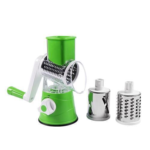 Bestsellrz® Rotary Vegetable Slicer Carrot Spiralizer Salad Cutter - Swizie™ Graters Green Swizie™