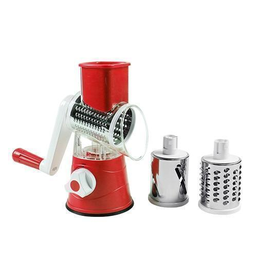 Bestsellrz® Rotary Vegetable Slicer Carrot Spiralizer Salad Cutter - Swizie™ Graters Red Swizie™