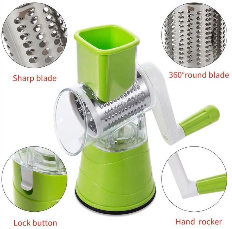 Bestsellrz® Rotary Vegetable Slicer Carrot Spiralizer Salad Cutter - Swizie™ Graters Swizie™