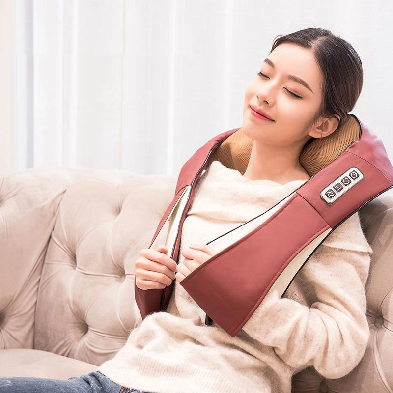 Bestsellrz® Shiatsu Back Neck Shoulder Cervical Massager with Heat - Relaxza™ Massage & Relaxation Brown / US Plug Relaxza™