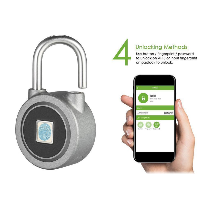 Bestsellrz® Smart Fingerprint Padlock Waterproof Biometric Taplock - IntelliLock™ Electric Lock IntelliLock™