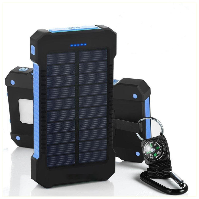 Bestsellrz® Solar Battery Charger Portable Sun Power Bank Waterproof - Chargix™ Power Bank Blue Chargix™