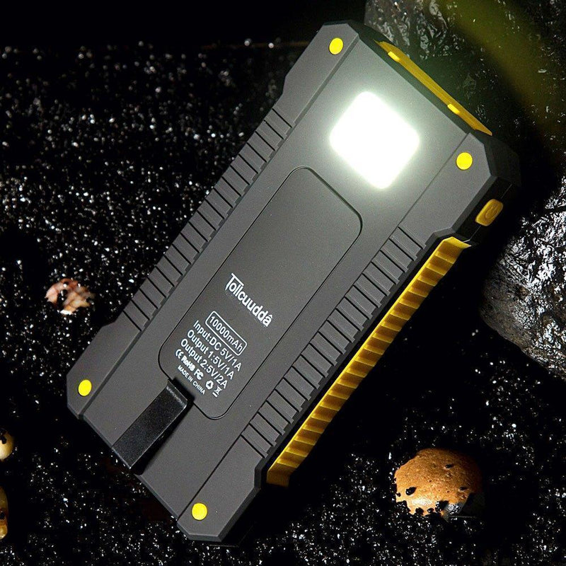 Bestsellrz® Solar Battery Charger Portable Sun Power Bank Waterproof - Chargix™ Power Bank Yellow Chargix™