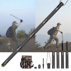 Bestsellrz® Survival Tactical Stick Walking Staff for Self Defense Trekking Pole - Exostik™ Tactical Stick 4 Tubes Exostik™