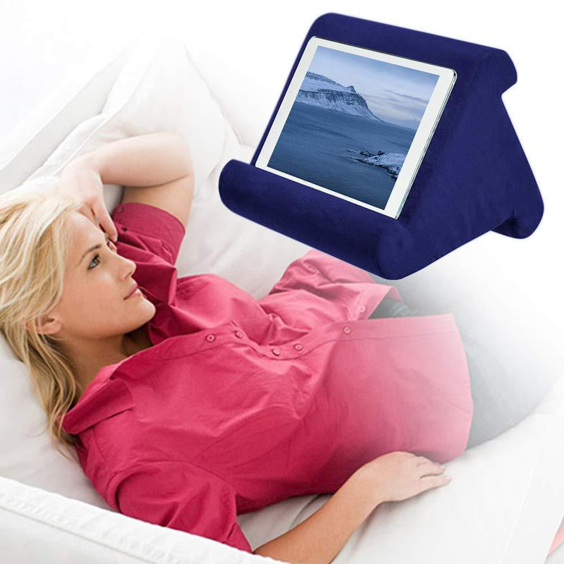 Bestsellrz® Tablet Stand Ipad Pillow Holder for Bed Sofa - Swivio™ Tablet Pillow Dark Blue Swivio™