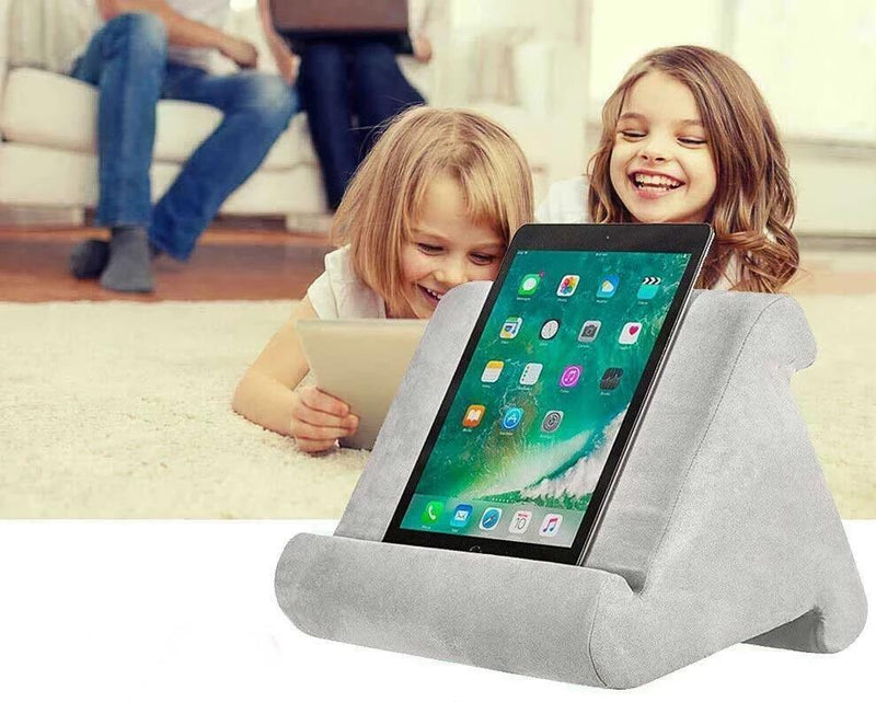 Bestsellrz® Tablet Stand Ipad Pillow Holder for Bed Sofa - Swivio™ Tablet Pillow Grey Swivio™
