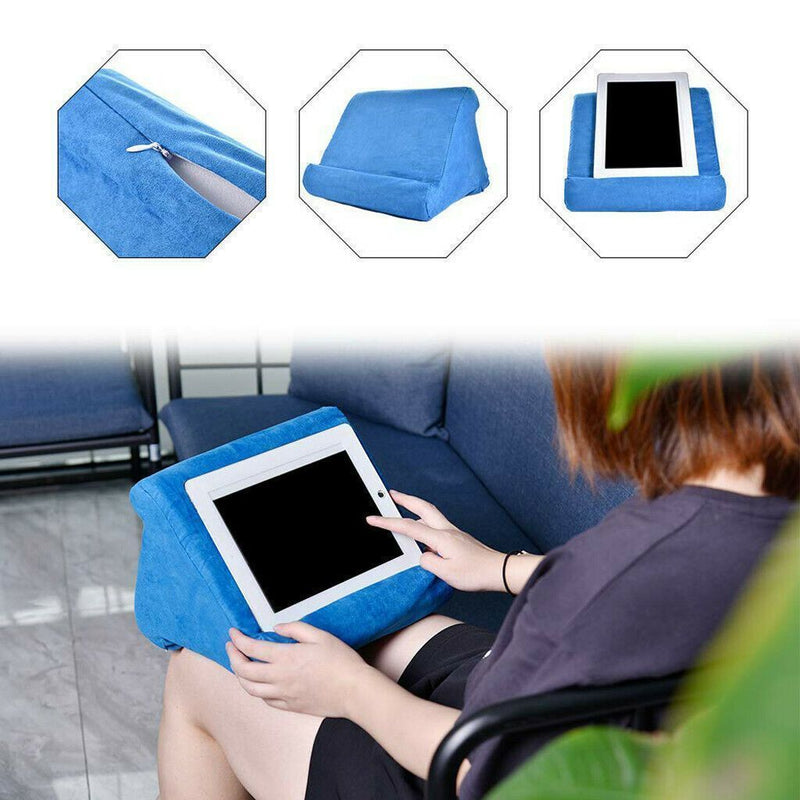 Bestsellrz® Tablet Stand Ipad Pillow Holder for Bed Sofa - Swivio™ Tablet Pillow Sky Blue Swivio™