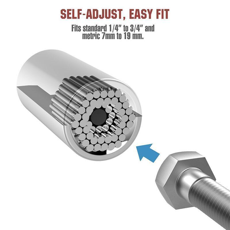 Bestsellrz® Universal Socket Torque Wrench Adapter Drill Extractor Grip - Kyxial™ Sockets Kyxial™