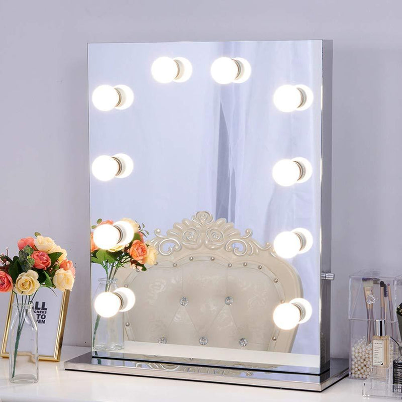 Bestsellrz® Vanity Mirror Lights Makeup Professional Hollywood Led Bulbs - Lumaglam™ LED Indoor Wall Lamps 10 Bulbs 16W Lumaglam™