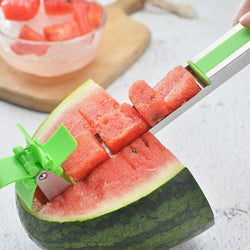 Bestsellrz® Watermelon Cube Cutter Slicer Cantaloupe Melon Windmill Cutting Tool  Shredders & Slicers Quikube™