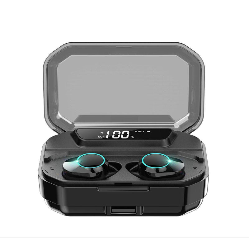 Bestsellrz® Waterproof Bluetooth Headphones Wireless Earphones with Mic and Power Bank - Audatix™ Wireless Earbuds Audatix™
