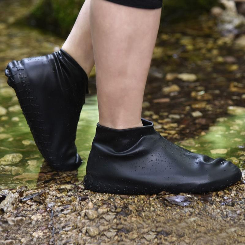 Bestsellrz® Waterproof Shoe Covers For Rain Travel Rubber Overshoes Reusable Shoes Covers Black / S Shoelio™
