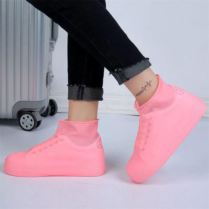 Bestsellrz® Waterproof Shoe Covers For Rain Travel Rubber Overshoes Reusable Shoes Covers Pink / S Shoelio™