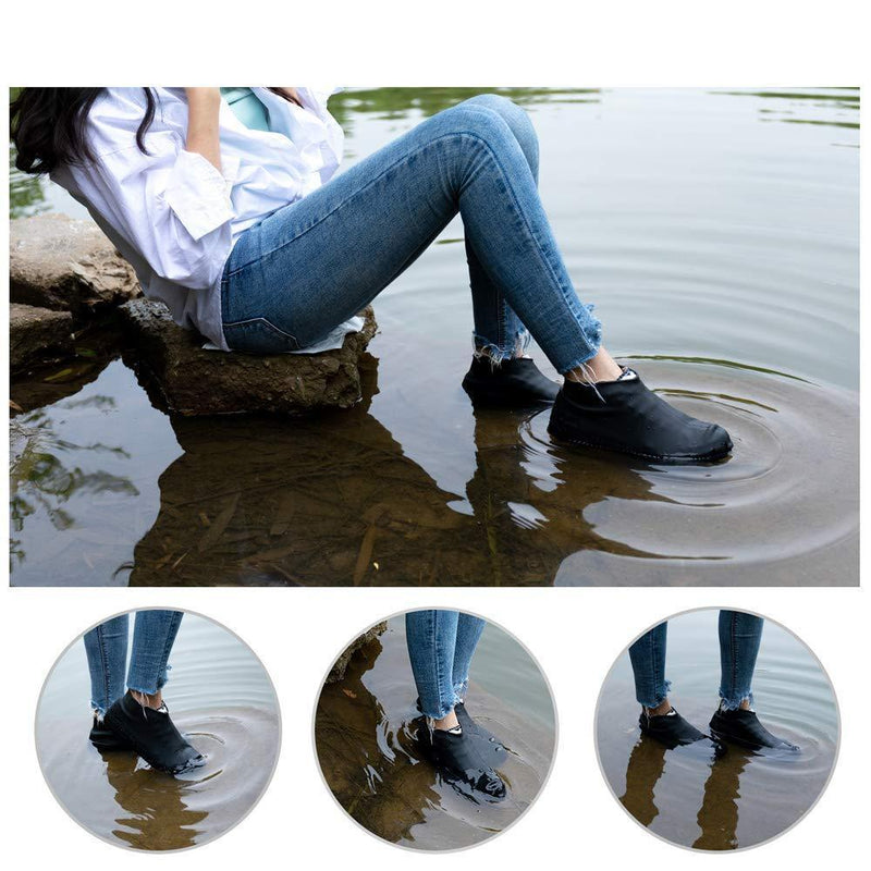 Bestsellrz® Waterproof Shoe Covers For Rain Travel Rubber Overshoes Reusable Shoes Covers Shoelio™