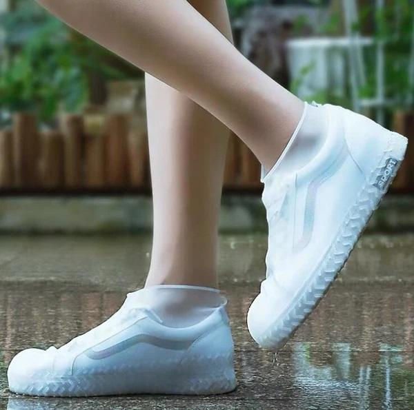 Bestsellrz® Waterproof Shoe Covers For Rain Travel Rubber Overshoes Reusable Shoes Covers White / S Shoelio™