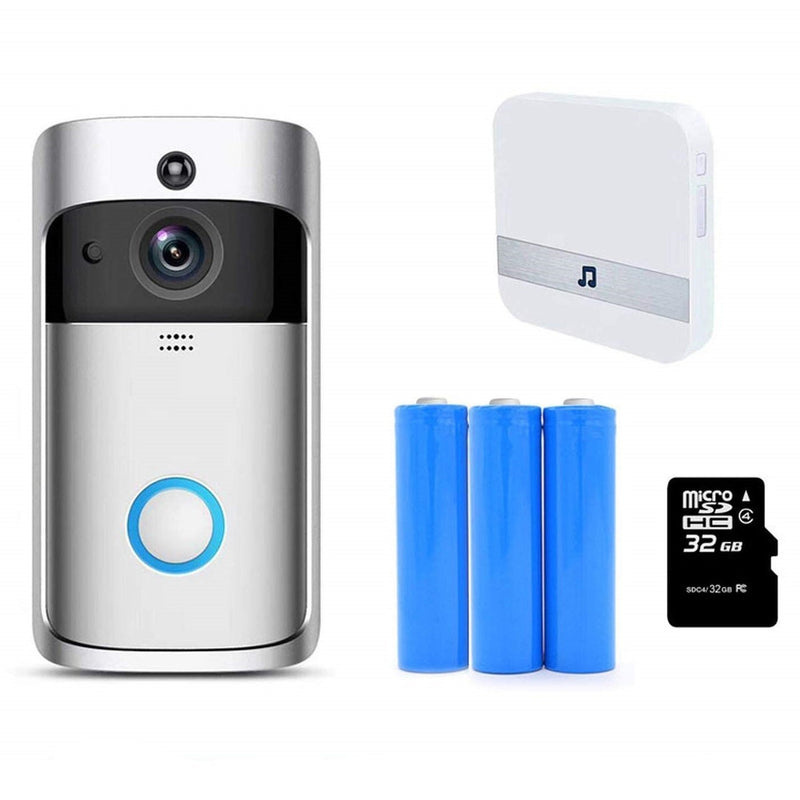 Bestsellrz® Wireless Camera Video Wifi Smart Ring Doorbell - Supabell™ Surveillance Cameras Supabell™ + Batteries + Chime + 32 GB Card Supabell™