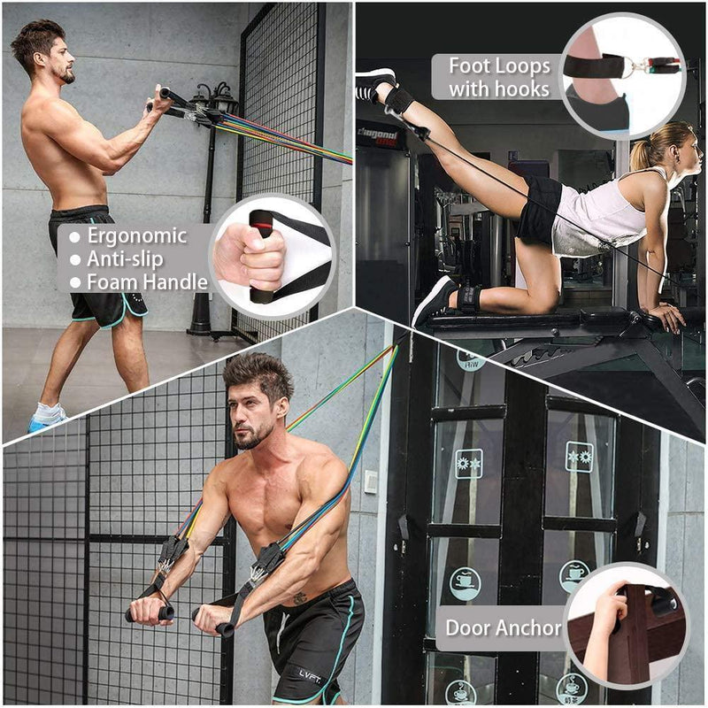 Bestsellrz® Workout Resistance Band Full Body Workout Squat Pulling Rope - Exowire™ Resistance Bands Exowire™