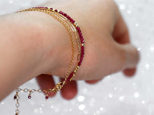 Boho inspired, handmade sterling silver or gold clasp bracelets with genuine gemstones.
