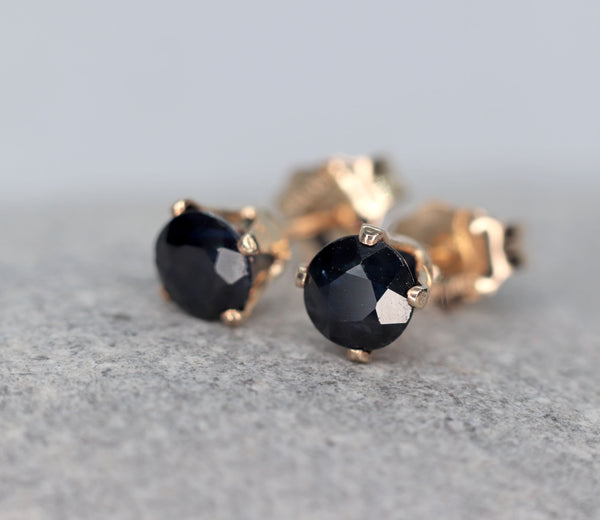 Tiny Sapphire Stud Earrings