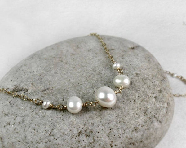 AA Grade Freshwater Pearl Necklace, June Birthstone