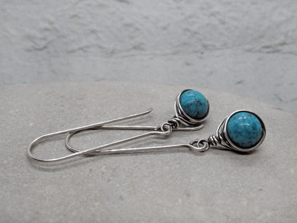 Long Dangle Turquoise Earrings