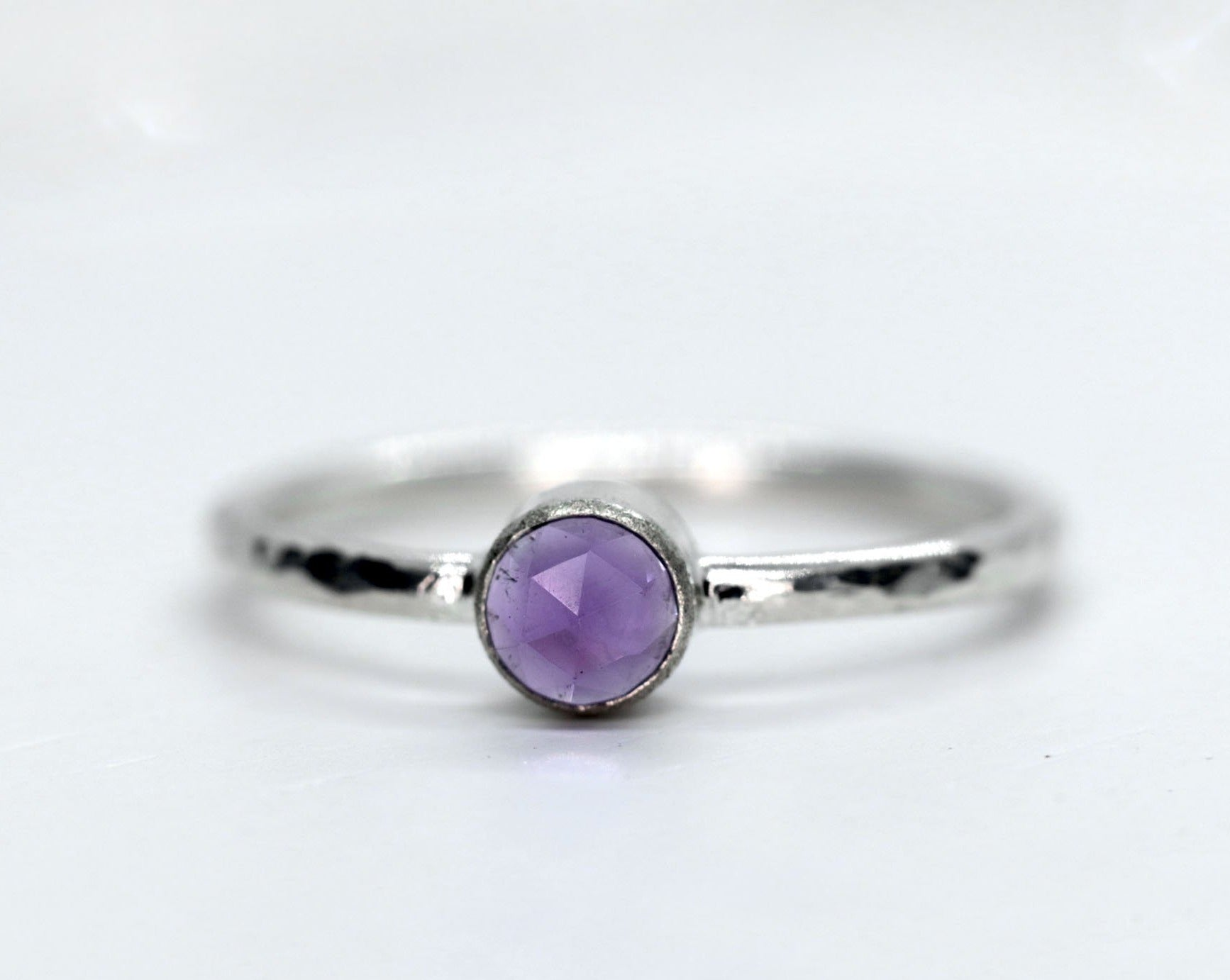 African Amethyst Stacking Ring