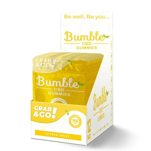 Bumble CBD Citrus Twist Gummies 100MG 4PK