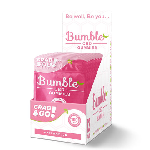 Bumble CBD Watermelon Gummies 100MG 4PK