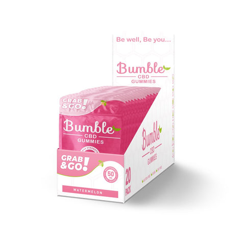 Bumble CBD Watermelon Gummies 50MG 2PK