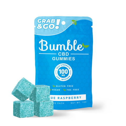 Bumble CBD Blue Raspberry Gummies 100MG 4PK