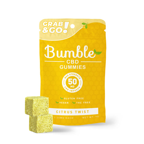 Bumble CBD Citrus Twist Gummies 50MG 2PK