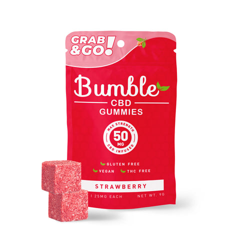 Bumble CBD Strawberry Gummies 50MG 2PK