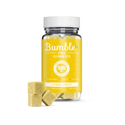 Bumble CBD Citrus Twist Gummies 500MG 20 Pcs Jar