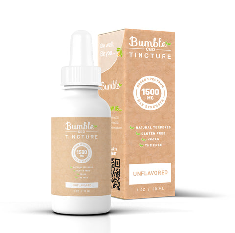 Bumble CBD Unflavored 1500MG Tincture