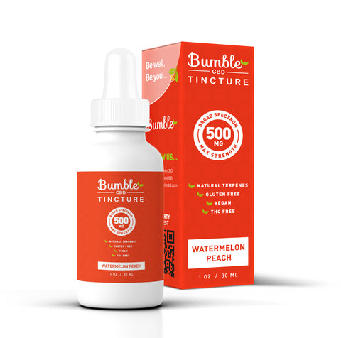 Bumble CBD Watermelon Peach 500MG Tincture
