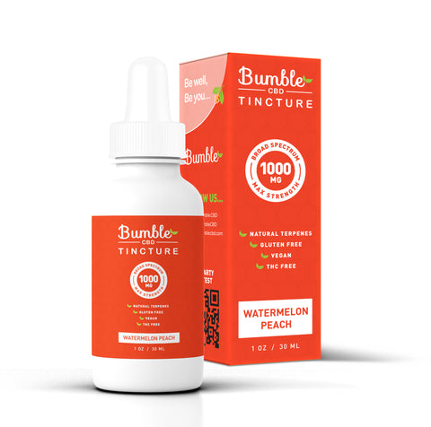 Bumble CBD Watermelon Peach 1000MG Tincture
