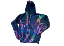 Load image into Gallery viewer, Cosmic Rainbow Full-Zip Hoodie Sweatshirt