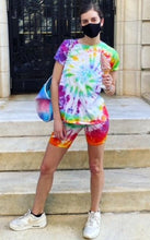 Load image into Gallery viewer, Rainbow Tie-dye Biker Shorts
