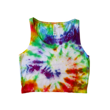 Load image into Gallery viewer, Rainbow Tie-dye Cropped Tank