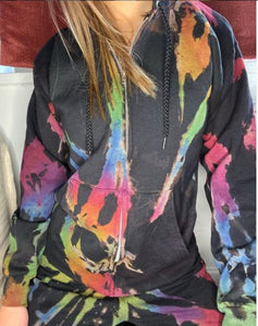 Cosmic Rainbow Full-Zip Hoodie Sweatshirt