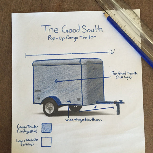 The Good South Pop-Up Cargo Trailer