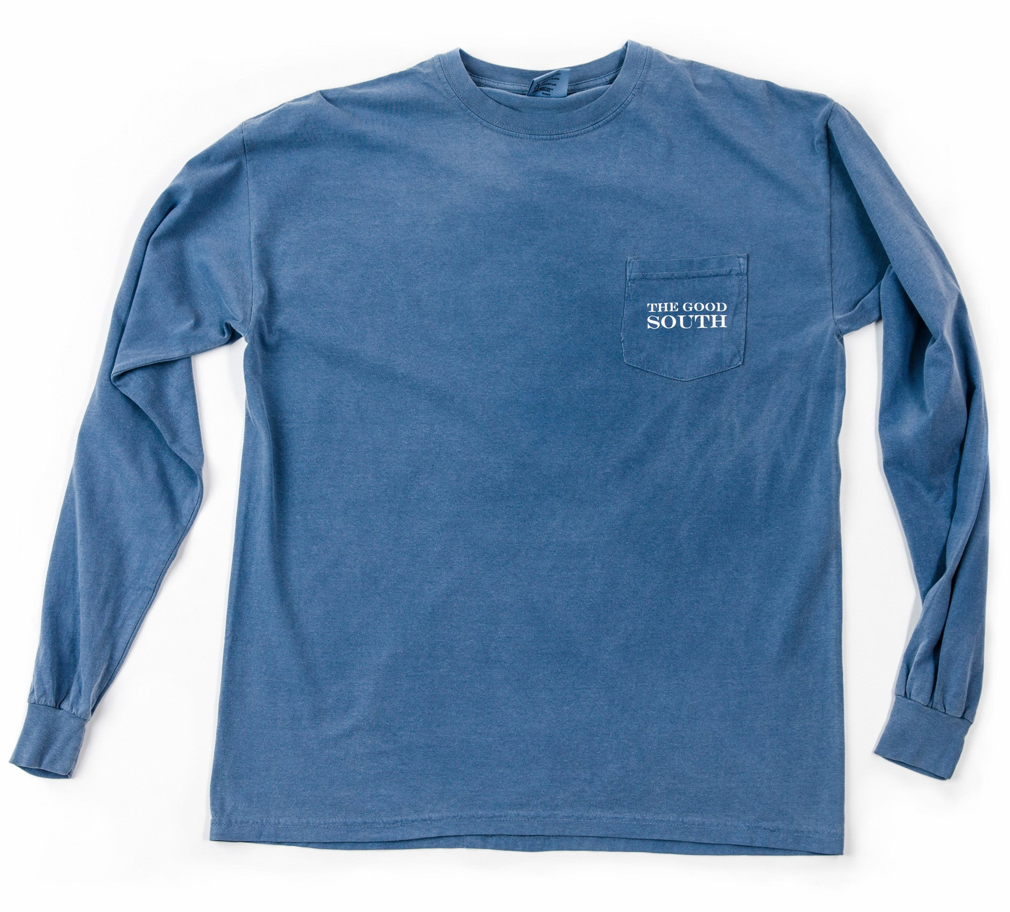 The Good South Long Sleeve T-Shirt: Blue Jean
