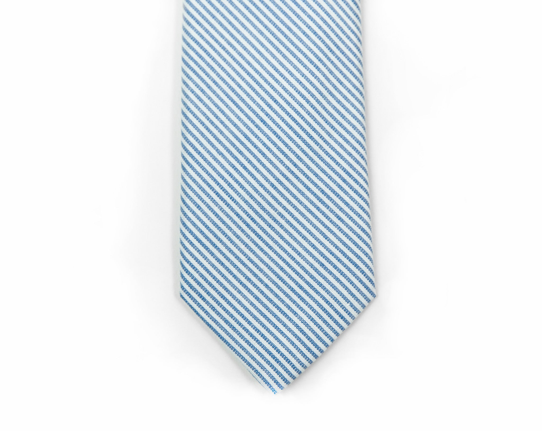Blue + White Ticking Stripe Necktie