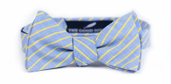 Blue + Yellow Plaid Bow Tie