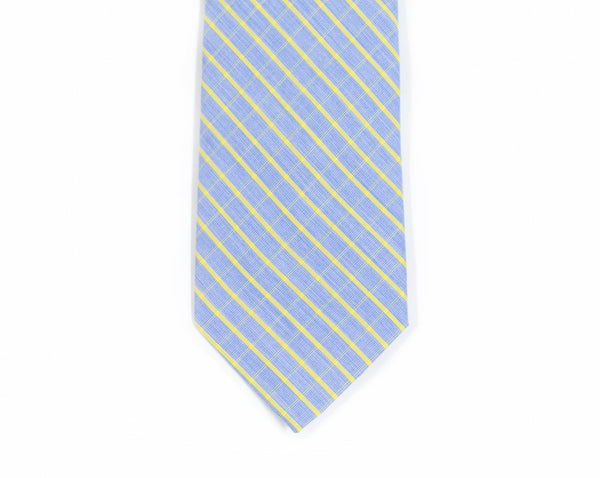 Blue + Yellow Plaid Necktie