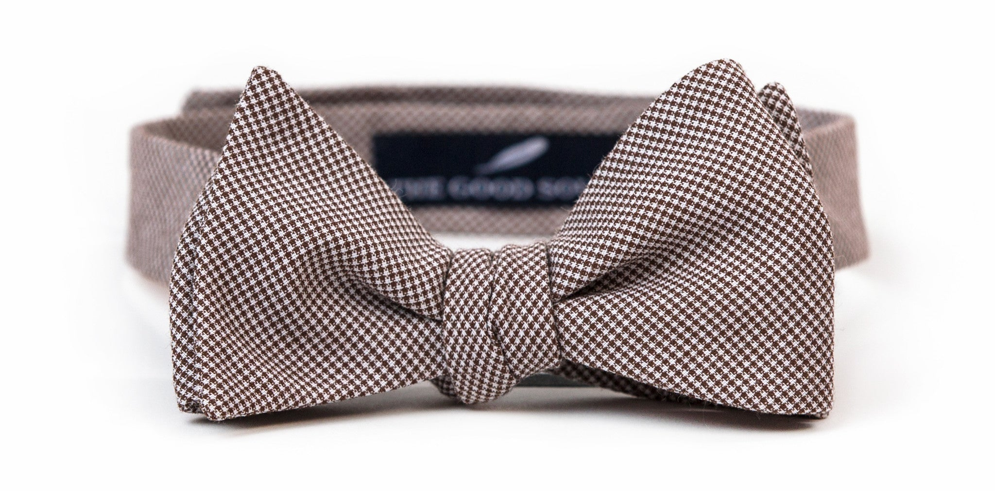 Brown Microcheck Bow Tie
